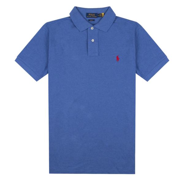Polo Ralph Lauren Slim Fit Polo Shirt Dockside Blue Heather