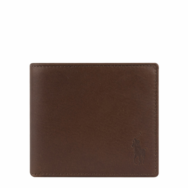 Polo Ralph Lauren Small Leather PP Billfold Wallet Camo / Brown