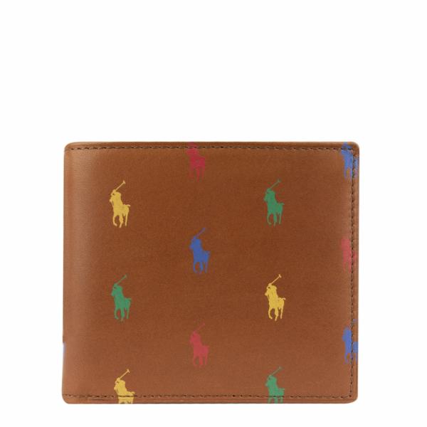 Polo Ralph Lauren Small Leather PP Billfold Wallet Tan