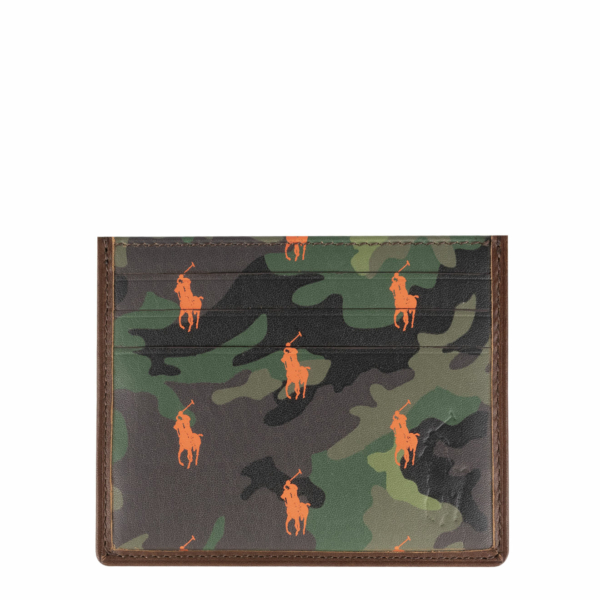 Polo Ralph Lauren Small Leather PP Card Case Camo / Brown