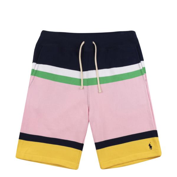 Polo Ralph Lauren Stripe Athletic Shorts Cruise Navy Multi