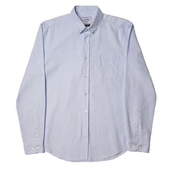 Portuguese Flannel Belavista LS Oxford Shirt Blue Stripe