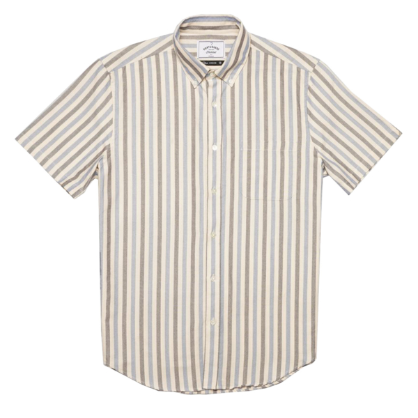 Portuguese Flannel Long Island SS Shirt Blue
