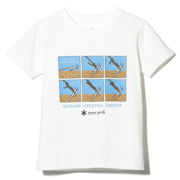 Snow Peak Taut Line Hitch T-Shirt White