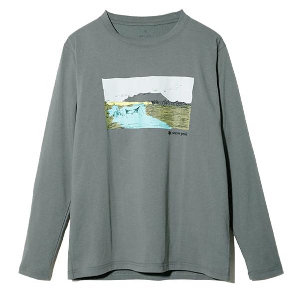 Snow Peak Campfield L/S T-Shirt Grey Khaki