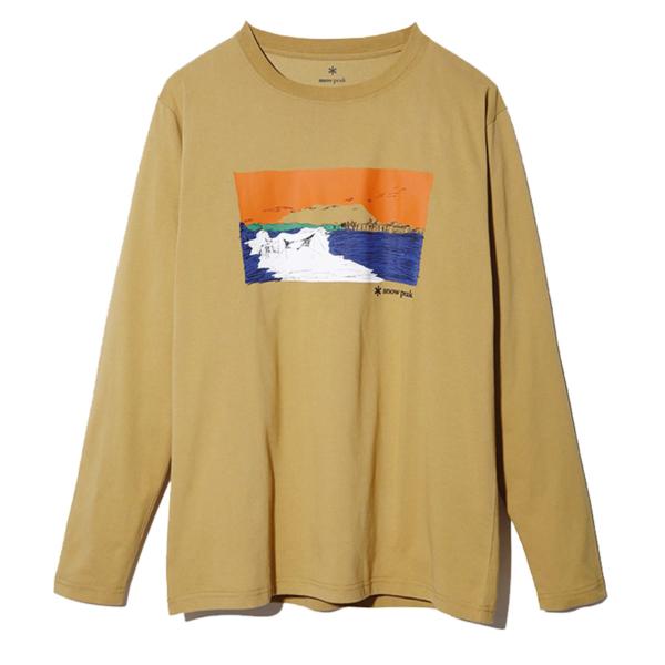 Snow Peak Campfield L/S T-Shirt Mustard