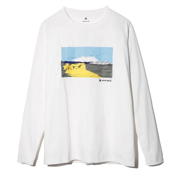 Snow Peak Campfield L/S T-Shirt White