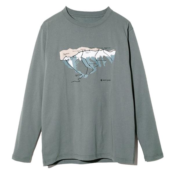 Snow Peak Tanigawa L/S T-Shirt Grey Khaki
