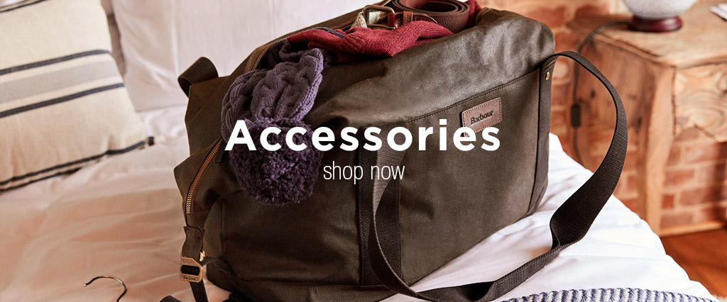 Brown Barbour Travel Bag and Accessories