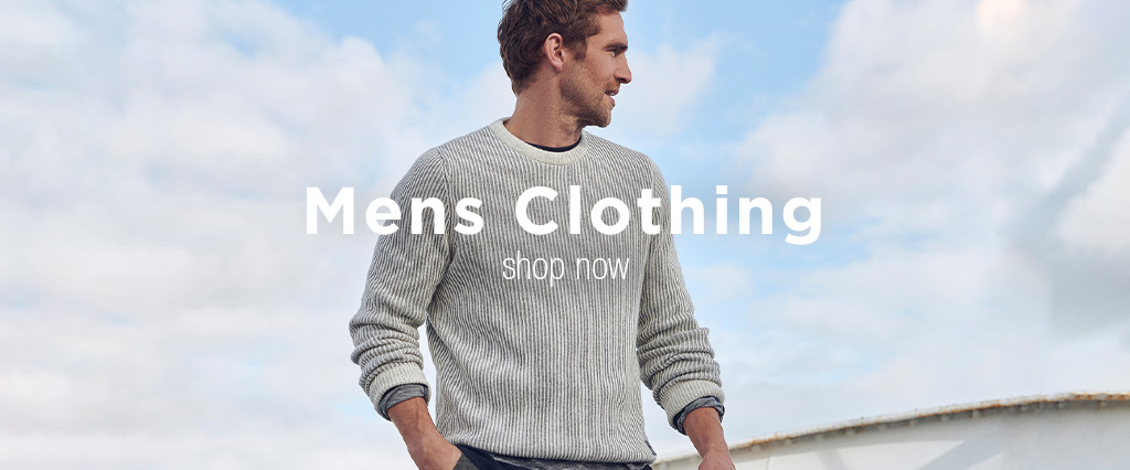 Man wearing Barbour White Crew Neck Sweater