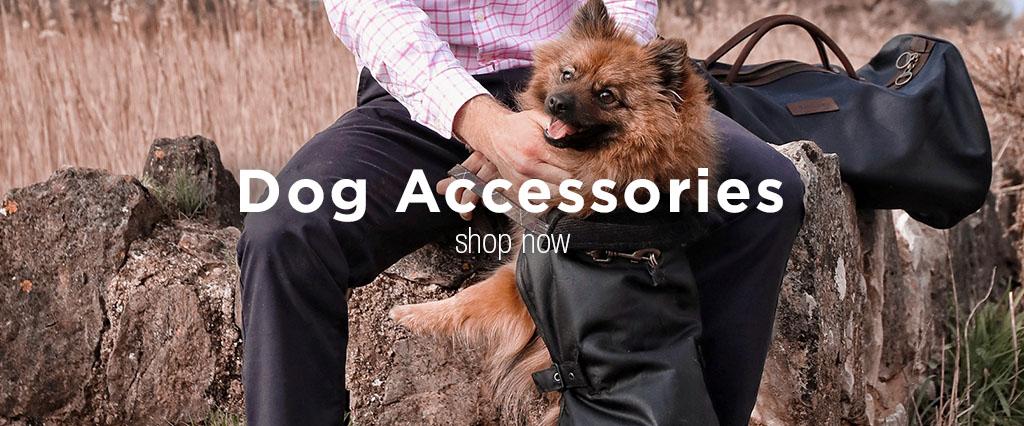 Pampered Dog Wearing Black Barbour Matt Wax Dog Coat