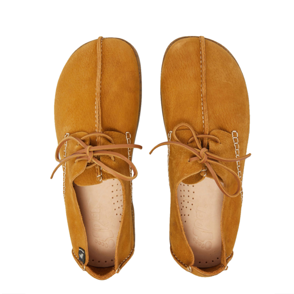 Yogi Lennon Embossed Nubuck Lace Up Shoe Wheat