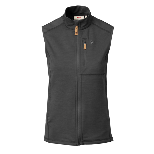 Fjallraven Womens Keb Fleece Vest Dark Grey / Black