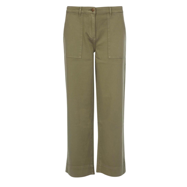 Barbour Womens Summer Cabin Trouser Khaki With Large Patch Pockets