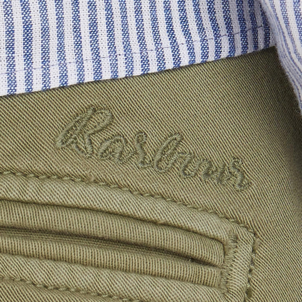 Barbour Womens Summer Cabin Trouser Khaki With Rear Welt Pockets & Embroidered Barbour Logo