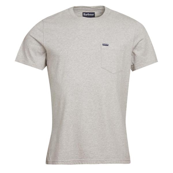 Barbour Logo Pocket T-Shirt Grey Marl