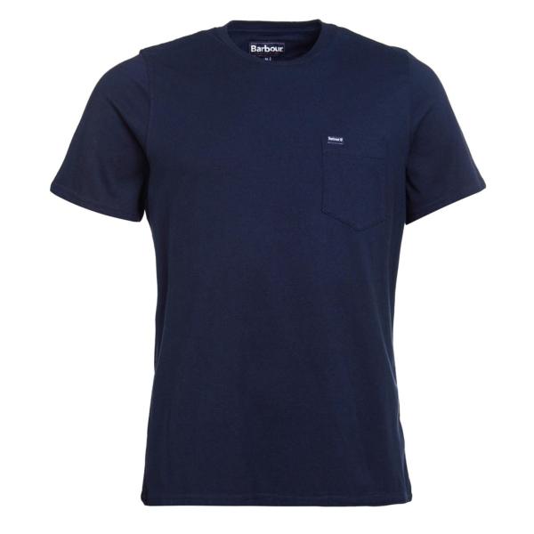 Barbour Logo Pocket T-Shirt Navy