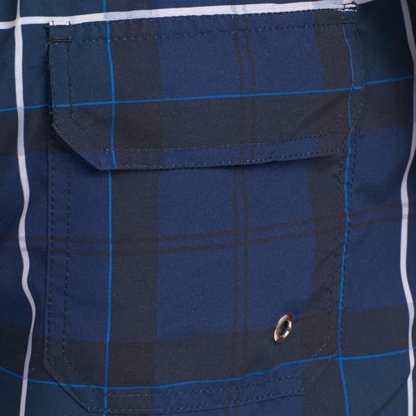 Barbour Tartan Swim Shorts Ink Rear Pocket