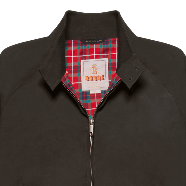 Baracuta G9 Classic Harrington Jacket Faded Black