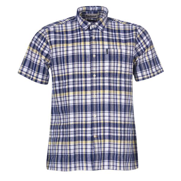 Barbour Linen 2 SS Shirt Navy