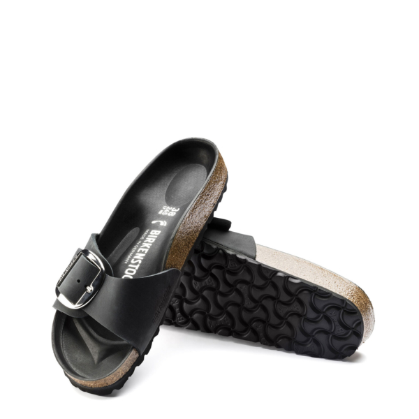 Birkenstock Womens Madrid Big Buckle Oiled Leather Black