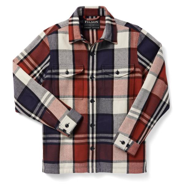 Filson Deer Island Jac-Shirt Rust Navy Cream