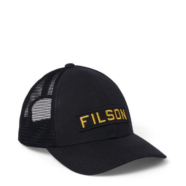 Filson Mesh Snap-Back Logger Cap Black