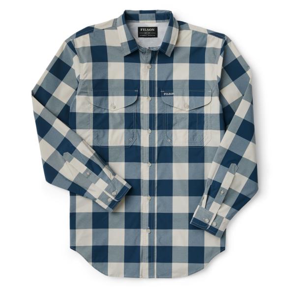 Filson Twin Lakes Sport Shirt Charcoal Teal Cream