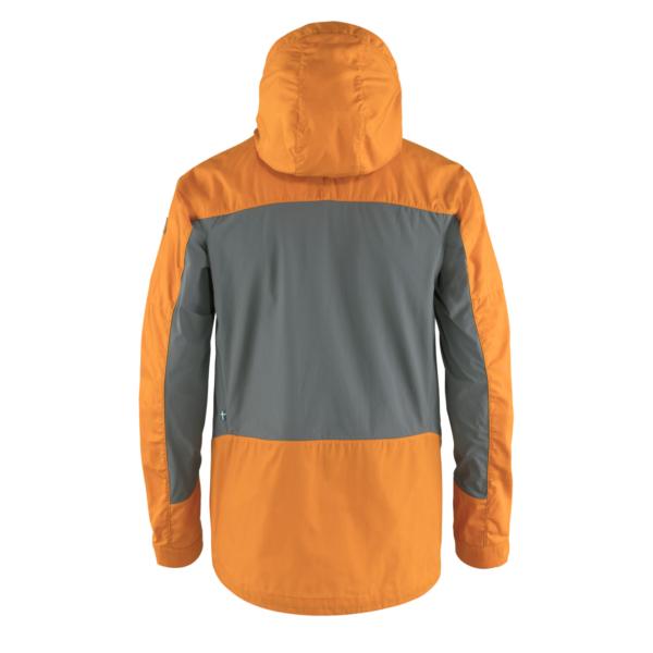 Fjallraven Abisko Lite Trekking Jacket Ember Orange / Super Grey