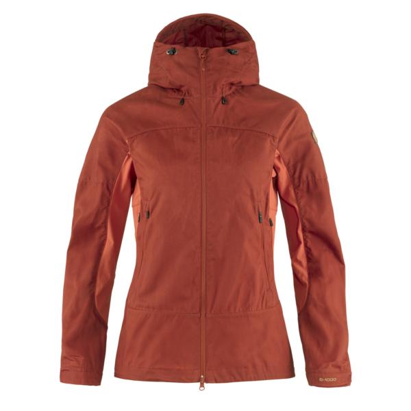 Fjallraven Womens Abisko Lite Trekking Jacket Cabin Red / Rowan Red