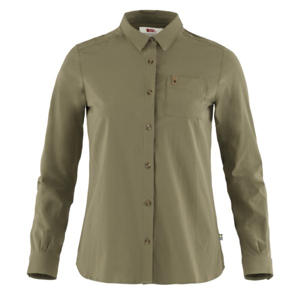 Fjallraven Womens Ovik Lite Shirt LS Green