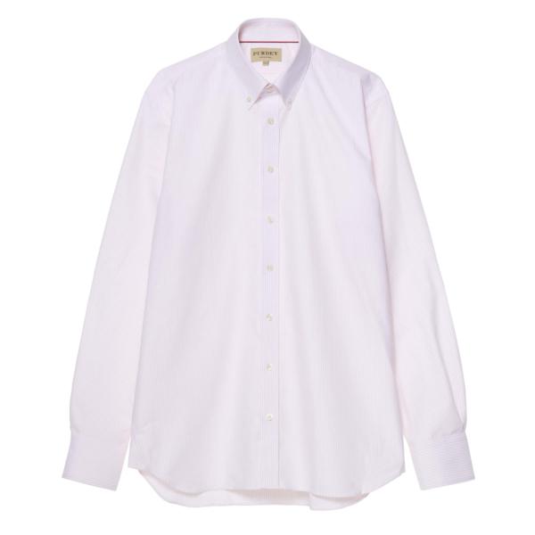 James Purdey Oxford Stripe Button Down Collar Shirt Pink