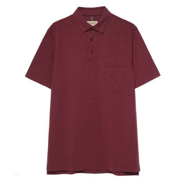 James Purdey Polo Shirt w/ Pocket Audley Red