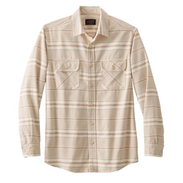 Pendleton Beach Shack Shirt Tan / Brown Stripe