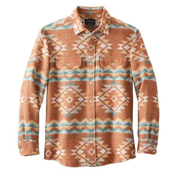 Pendleton Beach Shack Shirt Terra Cotta Multi