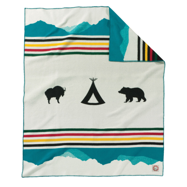 Pendleton Jacquard Blanket Crown Of The Continent