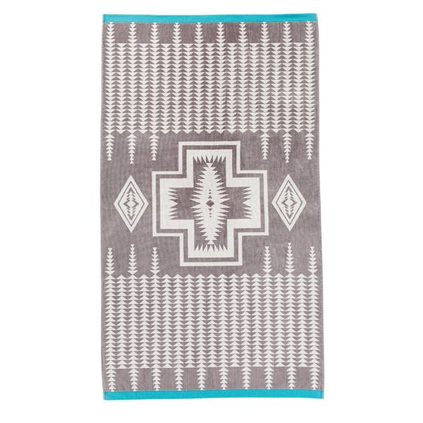 Pendleton Oversized Jacquard Towel Harding Grey