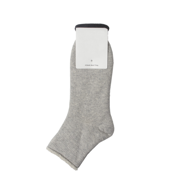 Rototo Double Face Ankle Socks Gray