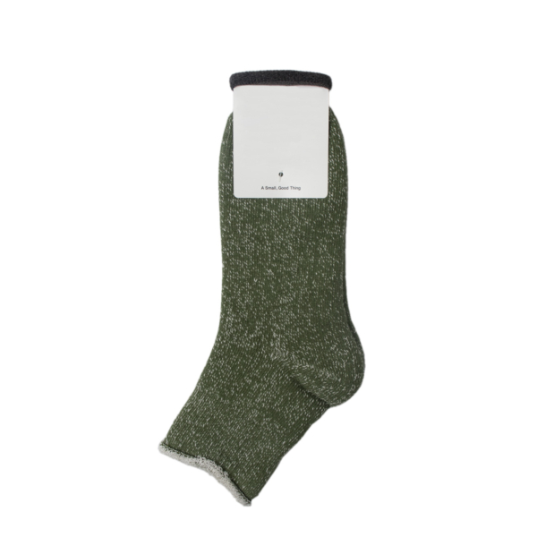 Rototo Double Face Ankle Socks Green