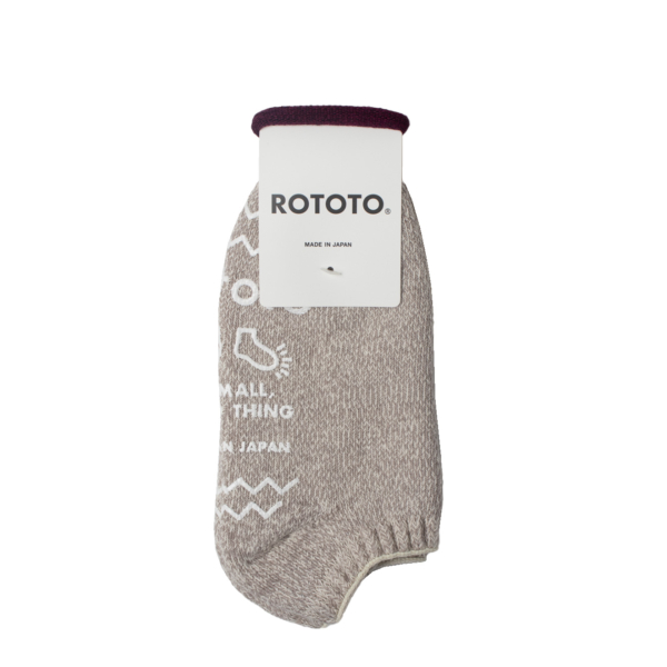 Rototo Recycled Cotton Pile Slipper Socks Ivory / Gray