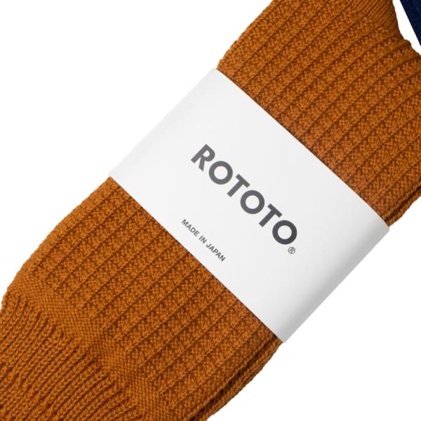 RoToTo Cotton Waffle Socks Dark Yellow