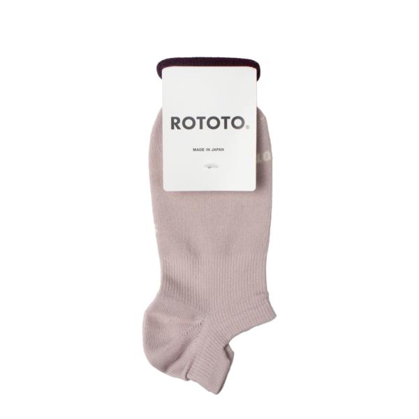 Rototo Sneaker Foot Cover Organic Socks Light Pink