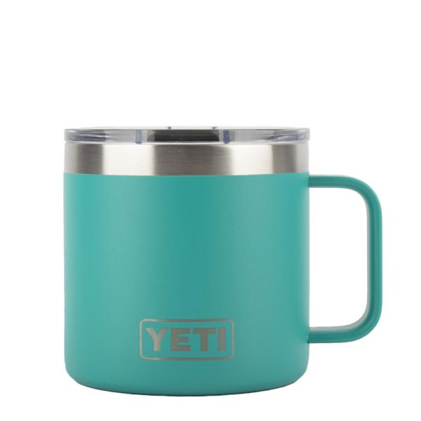 YETI Rambler 14oz Mug MS Aquifer Blue