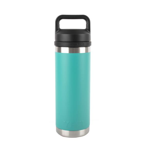 YETI Rambler 18oz Bottle Chug Aquifer Blue