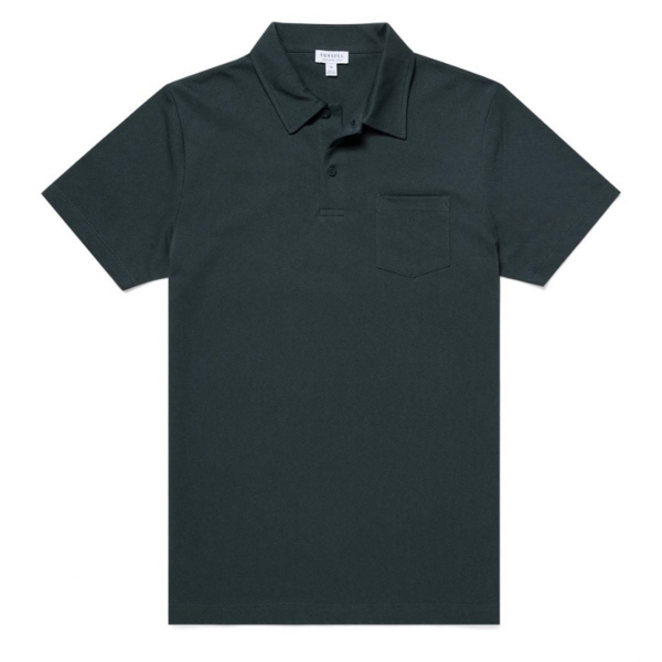 Sunspel Riviera S/S Polo Forest