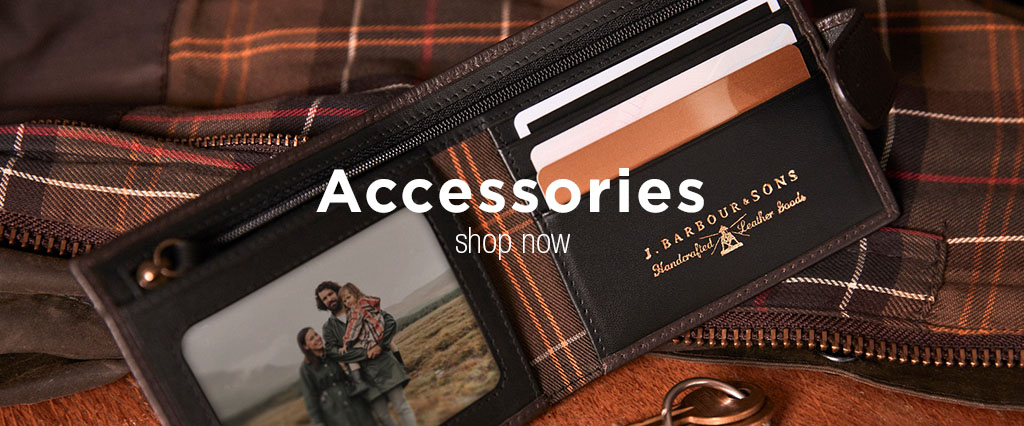 Barbour Accessories, Leather Wallet, Tartan Bags & Keyring