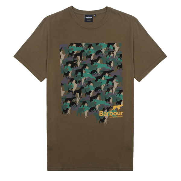 Barbour Outdoors Graphic T-Shirt Mid Olive