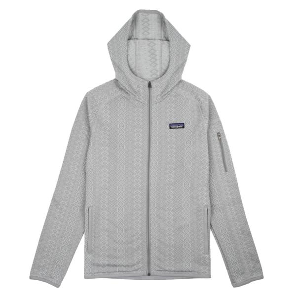 Patagonia Womens Better Sweater Hoody Frozen Jaquard Salt Grey