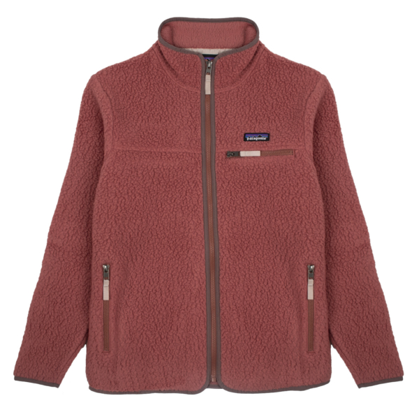 Patagonia Womens Retro Pile Fleece Jacket Rosehip