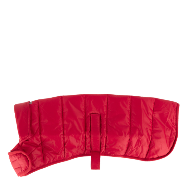 Barbour Baffle Quilt Dog Coat Brick Red